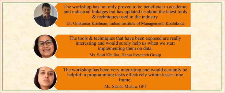 Feedback received from participants of Workshop on Data Visualization